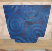 Tea Cup with Water Pattern, 1997, oil on canvas, 35 x 52 inches