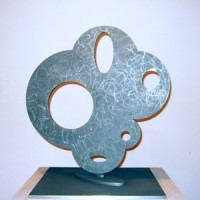 Steven Bickley, Petit La Blanca, 2006, stainless steel, 26 x 20 x 20 inches