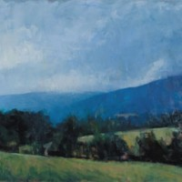 Frank Hobbs, Storm, Afton Mountain, Near Greenwood, VA, 2006, Oil on canvas, 60 x 48 inches