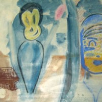 Untitled, 1982, pastel on paper, 19  x 25  inches