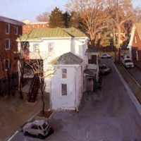 Virginia Avenue, 2008, oil on board, 24 x 26 1/2 inches