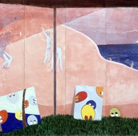 Gerald Donato, Beach, 1999, Acrylic on panel, 80 x 153 1/2 inches
