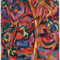 Richard Carlyon, Tree, 1952, Oil on canvas, 36 x 30 inches