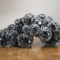 Tara Donovan, Untitled, 2009, Mylar and hot glue, 17 x 36 x 19 inches, Photo by G.R. Christmas, Courtesy The Pace Gallery