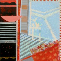 Sally Bowring, Interior (February), 2010, Acrylic on panel, 40 x 40 inches