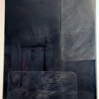 Modular Felt, 2010, Gesso, graphite, oil on panel, 48 x 39 inches