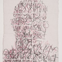 Ben Durham, Untitled 7, 2011, Graphite and ink on cut handmade paper, 20 x 28 inches