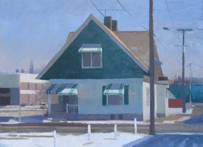 Hobbs.HouseInSunlight,Winter.2014.30x40.