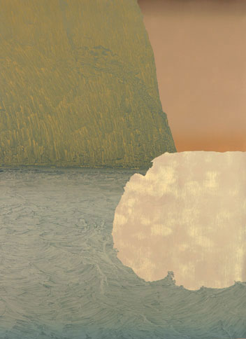 Saul Becker, Iceberg, 2006, oil on panel, 32 x 24 inches