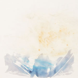 Current, 2004, water media and smoke on rag, paper, under shaved beeswax,mounted on primed panels, 33 x 33 inches