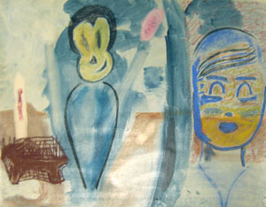 Untitled, 1982, pastel on paper, 19 ½ x 25 ½ inches