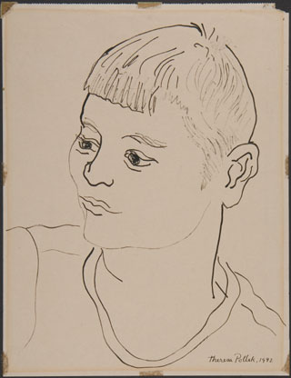 Untitled, 1942, ink on paper, 11 x 8 1/2 inches