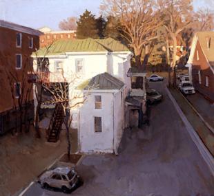 Virginia Avenue, 2008, oil on board, 24 x 26 1/2 inches