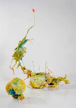 Surging Seepage: A Triple Bond Accretion, System, 2008, ceramic, enamel, epoxy, foam, paint, plaster, plastic, resin, rubber, steel, dimensions variable