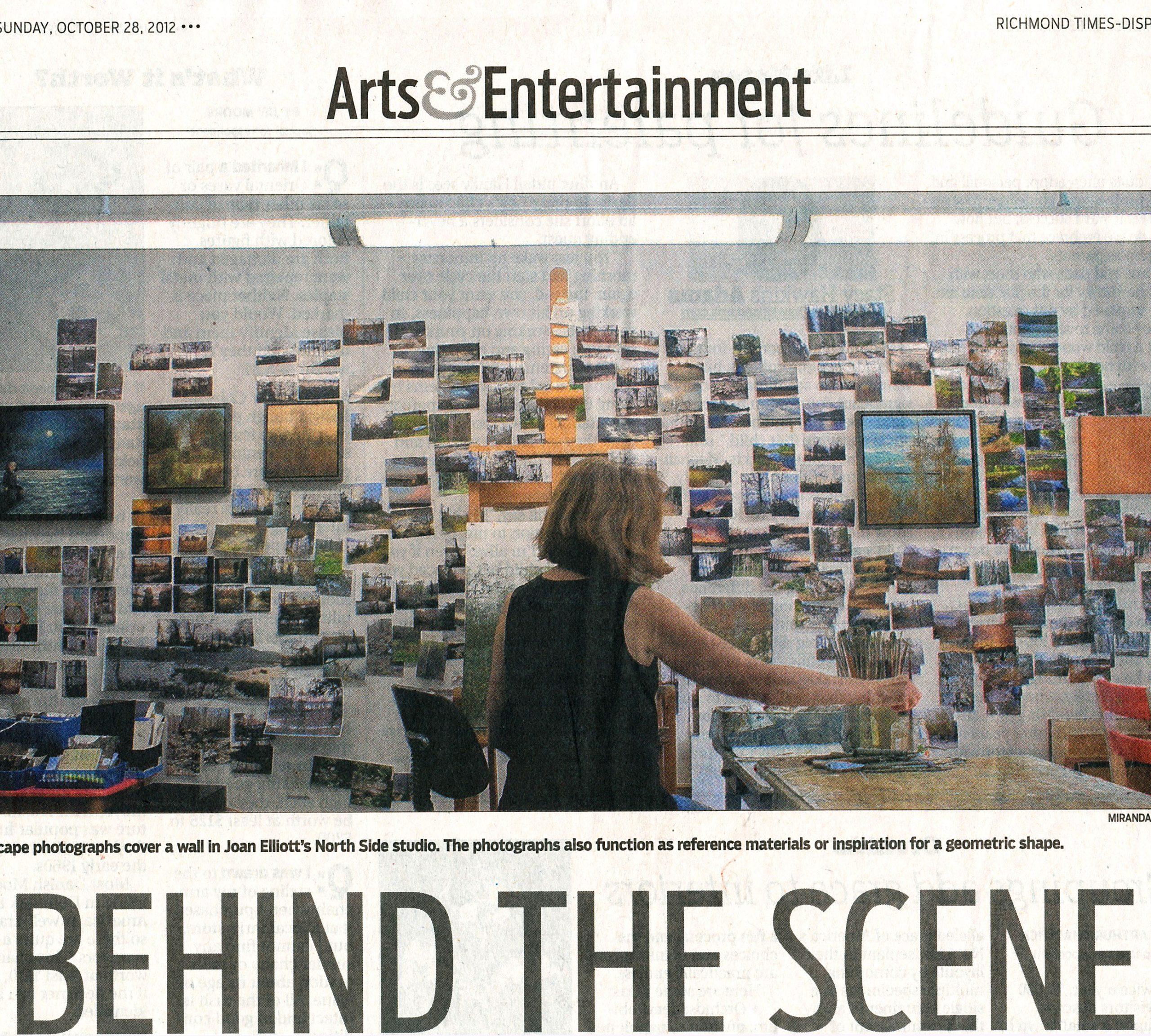 Joan Elliott featured in the Richmond Times Dispatch
