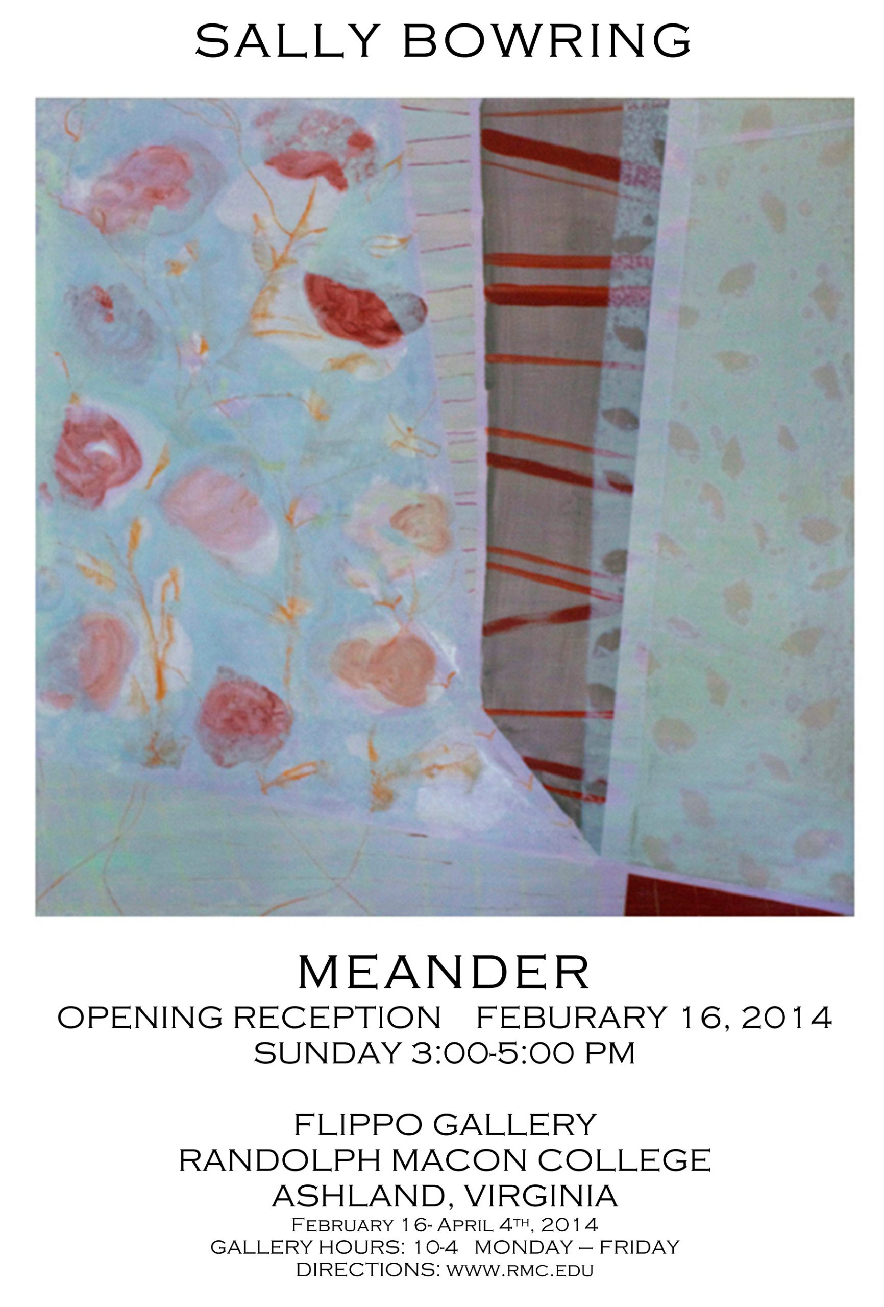 "Sally Bowring ""Meander"" Exhibition at Randolph-Macon College"