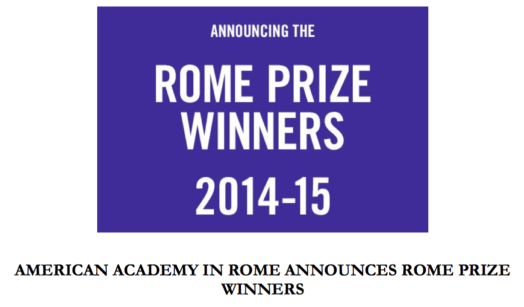 VCU's own, Corin Hewitt is Awarded The Rome Prize, 2014