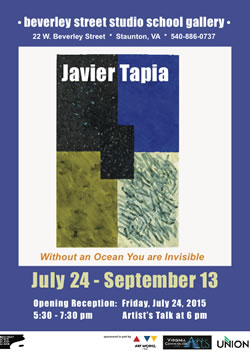"""Javier Tapia """"Without an Ocean You are Invisible"""" at Beverley Street Studio School"""