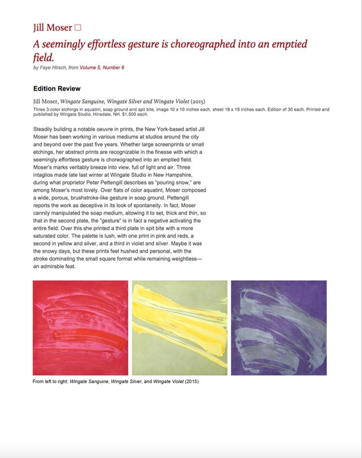 Jill Moser: Art in Print