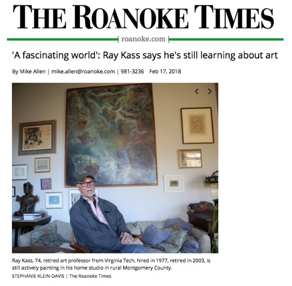 'A fascinating world': Ray Kass says he's still learning about art